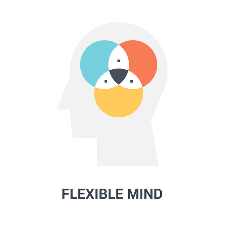 flexible mind icon concept