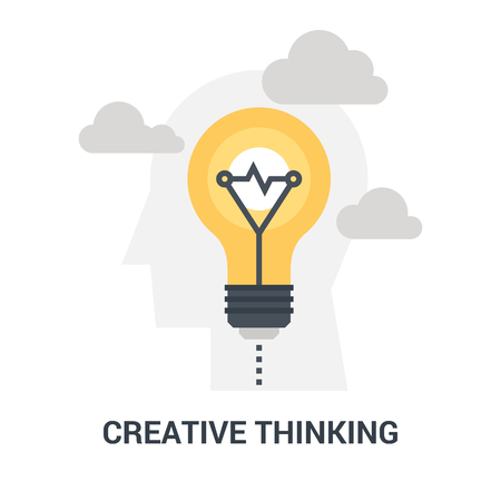 creative thinking icon concept