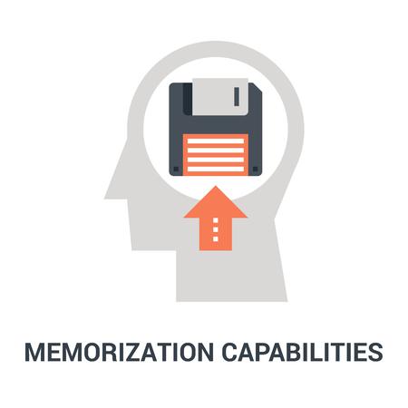 memorization capabilities icon concept