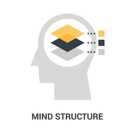 mind structure icon concept Ilustração