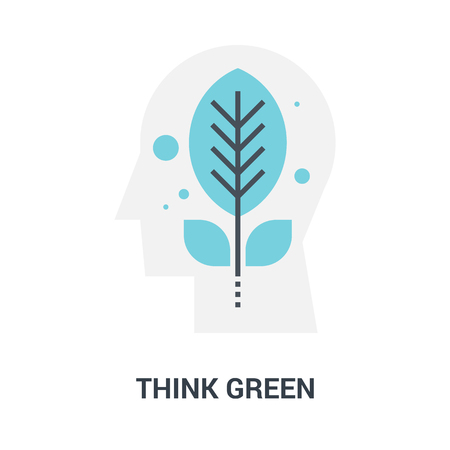 think green icon concept