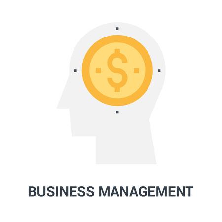 business management icon concept Ilustração