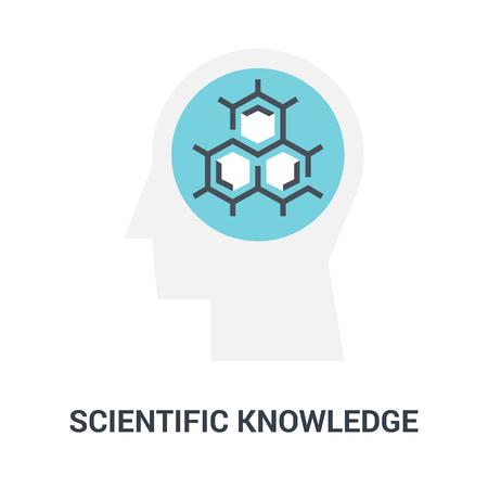 scientific knowledge icon concept