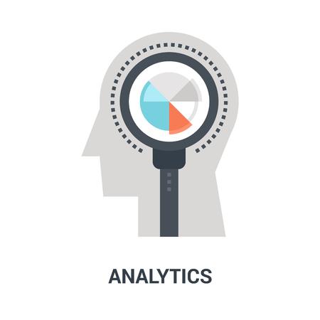analytics icon concept Ilustração