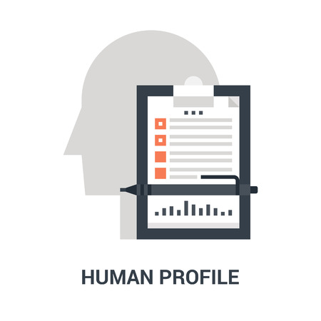 human profile icon concept