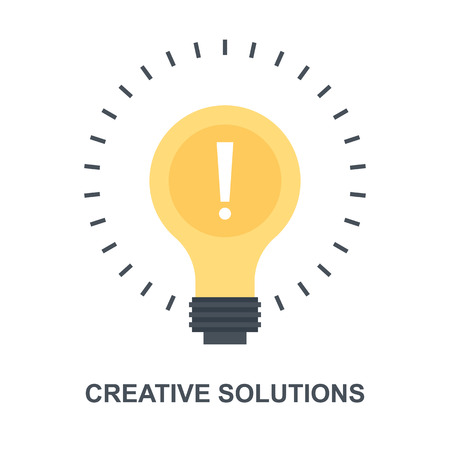 Creative Solutions icon concept Çizim