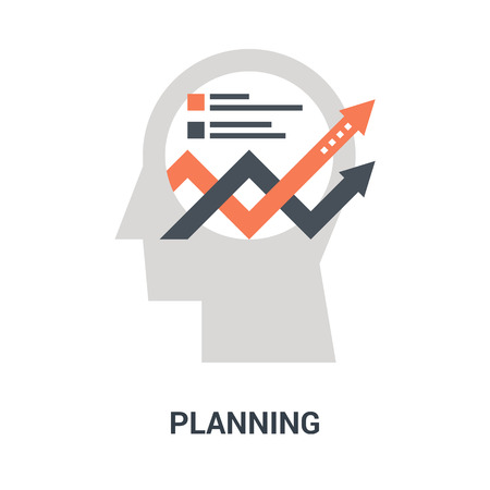 planning icon concept Çizim
