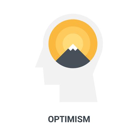 optimism icon concept Çizim