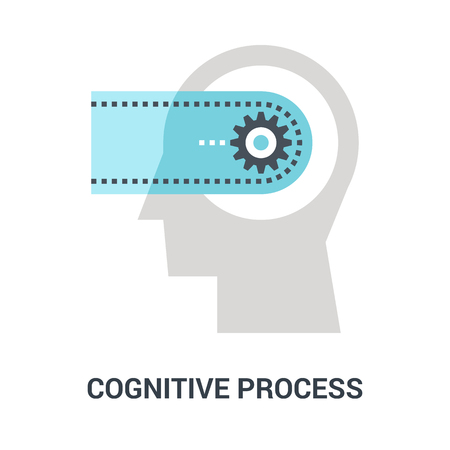 cognitive process icon concept