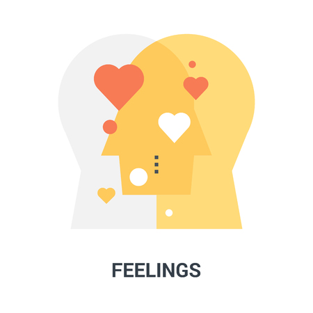 feelings icon concept Illustration
