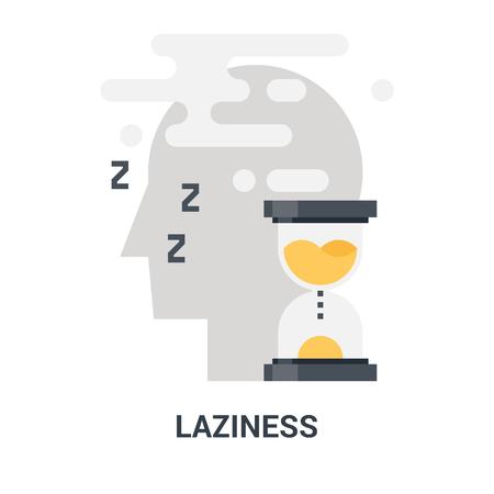 laziness icon concept