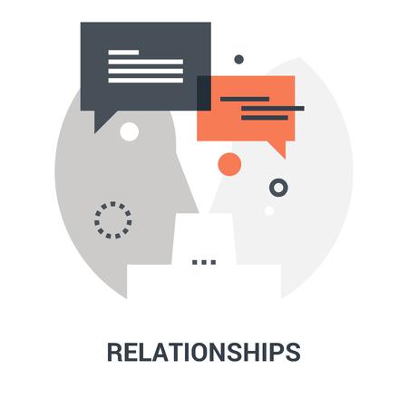 relationships icon concept Ilustração