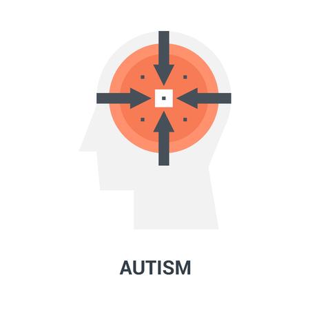 autism icon concept Imagens - 115201072