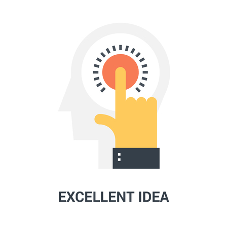 excellent idea icon concept