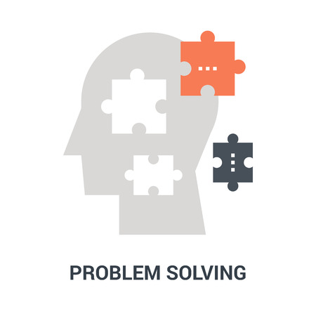 problem solving icon concept Illustration