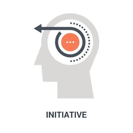 initiative icon concept Çizim