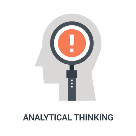 analytical thinking icon concept