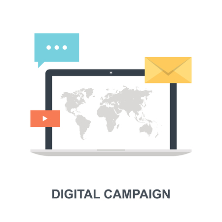 Digital Campaign icon concept