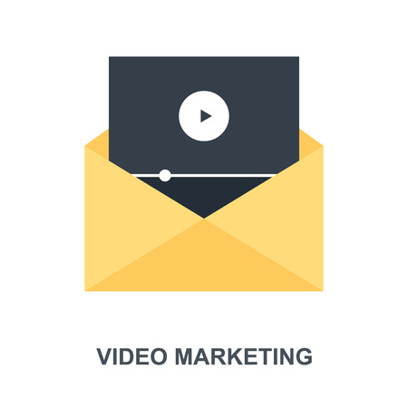 Video Marketing icon concept