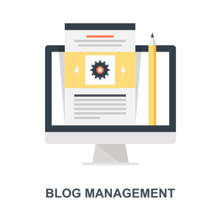Blog Management icon concept