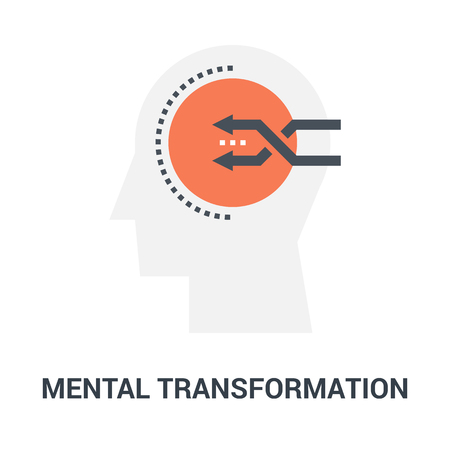 mental transformation icon concept