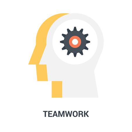 teamwork icon concept Çizim