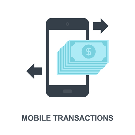 Mobile Transactions icon concept