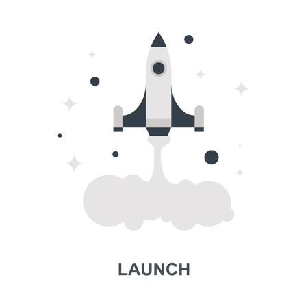 Launch icon concept Ilustração