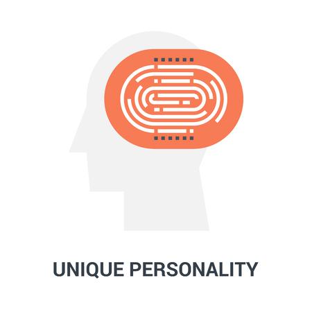 unique personality icon concept Ilustração