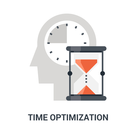 Abstract vector illustration of time optimization icon concept Ilustração
