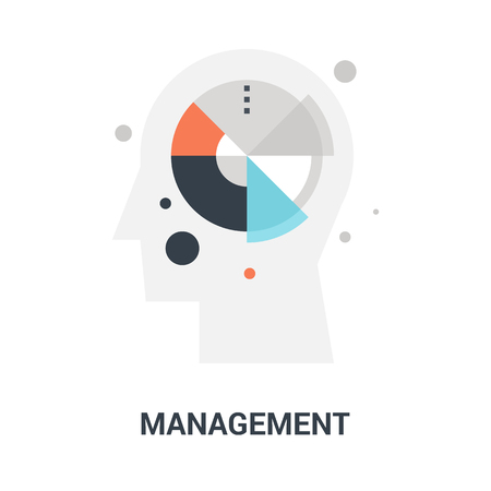 Abstract vector illustration of management icon concept Ilustração