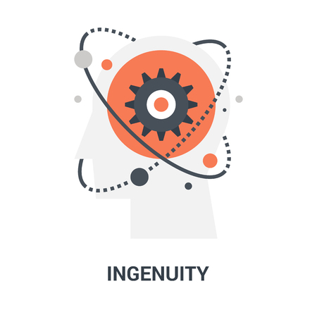 Abstract vector illustration of ingenuity icon concept Ilustração