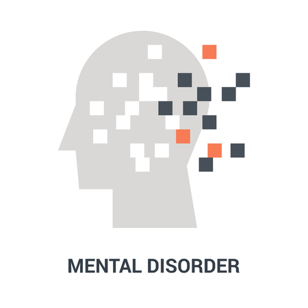 Abstract vector illustration of mental disorder icon concept