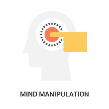 mind manipulation icon concept Çizim
