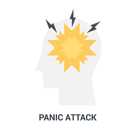 panic attack icon concept