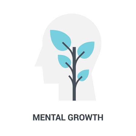 mental growth icon concept Çizim