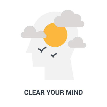 clear your mind icon concept Çizim