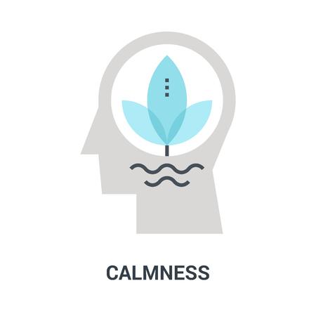 calmness icon concept