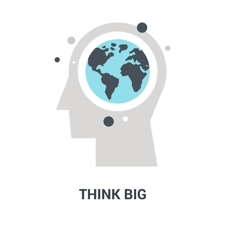 think big icon concept