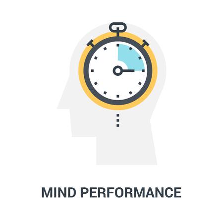 mind performance icon concept Çizim