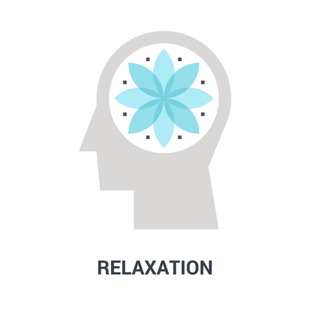 relaxation icon concept Çizim