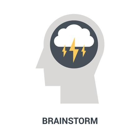 brainstorm icon concept Ilustração