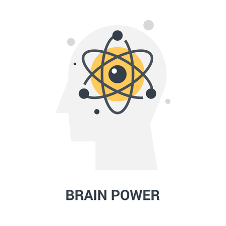 brain power icon concept