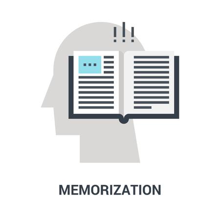 memorization icon concept