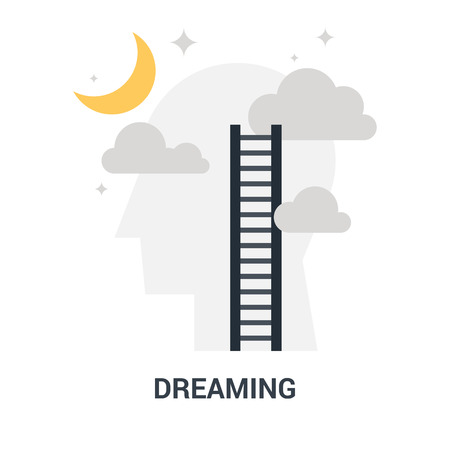 dreaming icon concept Imagens - 115201232