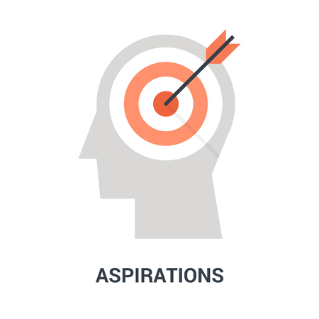 aspirations icon concept Çizim
