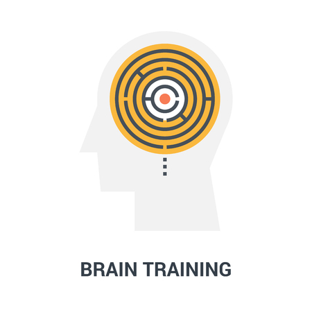 brain training icon concept
