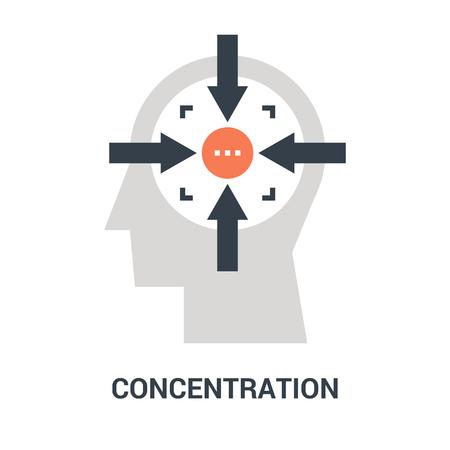 concentration icon concept Çizim