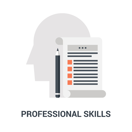 professional skills icon concept Çizim