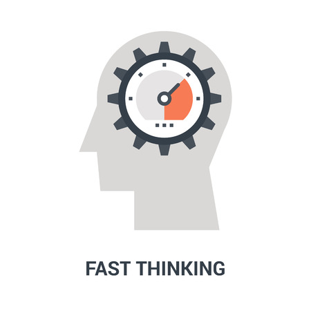 fast thinking icon concept